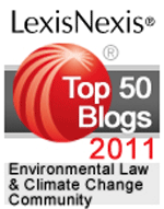 LexisNexis Top 50 Blogs 2011 Environmental Law & Climate Change Community